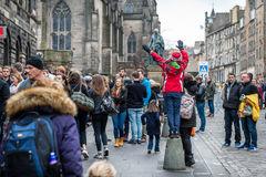 Streets of Edinburgh, Scotland, UK Stock Photography