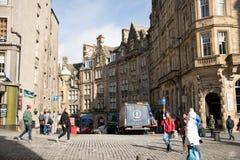 Streets of Edinburgh. Street photo at Edinburgh, Scotland Royalty Free Stock Image