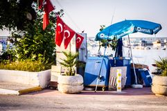 Streets And People Of Turkish Summer Vacation Town Royalty Free Stock Photography