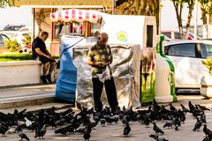 Streets And People Of Turkish Summer Vacation Town Royalty Free Stock Images