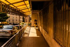 Streets And People Of Turkish Summer Vacation Town Stock Images