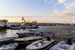 Seaside Streets Of Cinarcik Town In Summer Sunset - Turkey Stock Photography