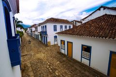 Streets of the historical town Paraty Brazil. Streets of the famous historical town Paraty, Brazil stock photos