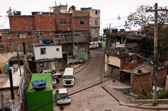 Streets of Favela Vidigal in Rio de Janeiro Royalty Free Stock Images