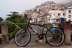 Streets of Favela Vidigal in Rio de Janeiro Stock Photos