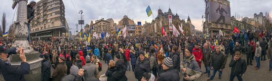 The streets are filled with people of Kiev and Kiev newcomers Stock Images