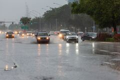 Free Streets Flooded On Weekend In Miami-Dade And Broward Counties Stock Image - 184151951