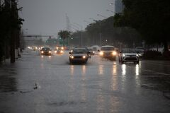 Free Streets Flooded On Weekend In Miami-Dade And Broward Counties Royalty Free Stock Photo - 184151965