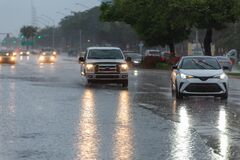 Free Streets Flooded On Weekend In Miami-Dade And Broward Counties Stock Photo - 184151990