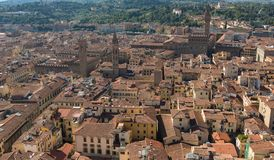 Streets of Florence city, Italy Royalty Free Stock Images