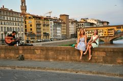 Streets of Florence , Italy Royalty Free Stock Images