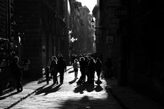 The streets of Florence stock image