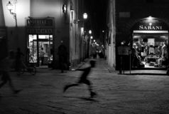 Streets of Florence by night royalty free stock photo