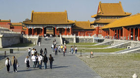 On the streets of the Forbidden City Royalty Free Stock Image