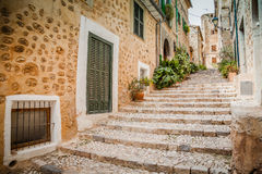 Streets of Fornalutx Mallorca Stock Photography