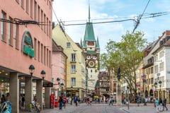 In the streets of Freiburg im Breisgau Royalty Free Stock Images
