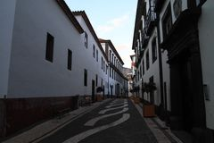 Streets of Funchal Madeira Stock Photography