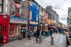 Streets of Galway. Photograph of streets of Galway, Ireland stock photography