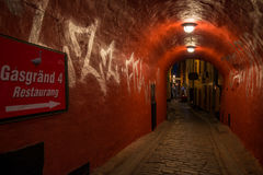 Streets of Gamla Stan, Stockholm, Sweden Stock Photos