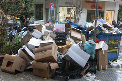Streets  with garbage Royalty Free Stock Photo