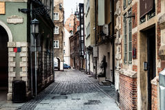 Streets in Gdansk city Stock Photo