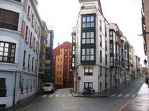 Streets of Gijon, Spain Stock Photo