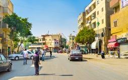 Streets of Giza Stock Photo