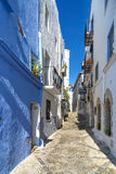 Streets of Granada. Street view of a small town on Mediterranean sea, Spain. Colorful and idyllic in summer royalty free stock photo