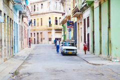 The streets of Havana. Cuba. Royalty Free Stock Images