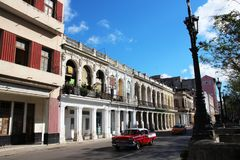 The streets of Havana cuba. A beautiful country on the American continent Stock Photography