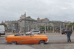 The streets of Havana. Where you can see ancient buildings and tourism Royalty Free Stock Photos