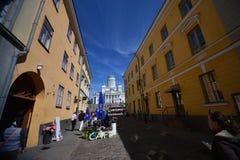 Streets of  helsinki, finland Royalty Free Stock Photo