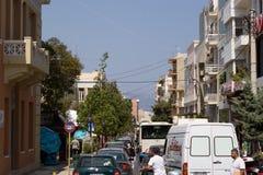 On the streets of Heraklion plenty of transport Stock Photography