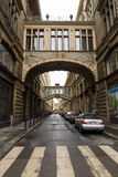The streets in the historic center of New Town of the Prague. Royalty Free Stock Images