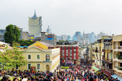 Streets of the historic centre of Macau Royalty Free Stock Photography