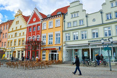 Streets of historical center. Greifswald Stock Image