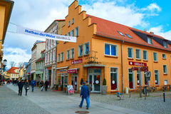 Streets of historical center. Greifswald Stock Photos