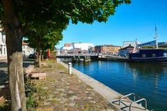 Streets of historical center. Stralsund Stock Image