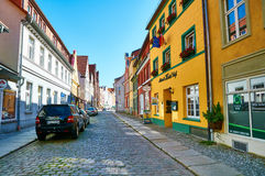 Streets of historical center. Stralsund Royalty Free Stock Image