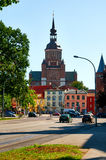 Streets of historical center. Stralsund Royalty Free Stock Photography