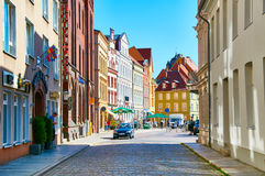 Streets of historical center. Stralsund Stock Images