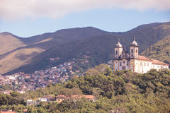 Streets of the historical town Ouro Preto, Brazil Royalty Free Stock Image