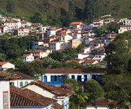Streets of the historical town Ouro Preto Brazil Royalty Free Stock Photo