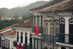 Streets of the historical town Ouro Preto Brazil Royalty Free Stock Image
