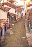 Streets of the historical town Ouro Preto Brazil Royalty Free Stock Photos