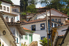Streets of the historical town Ouro Preto Brazil Stock Photo