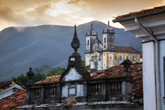 Streets of the historical town Ouro Preto Brazil Stock Image
