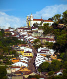 Streets of the historical town Ouro Preto Brazil Royalty Free Stock Images