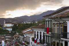 Streets of the historical town Ouro Preto Brazil Royalty Free Stock Photography
