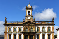 Streets of the historical town Ouro Preto Brazil Stock Photography